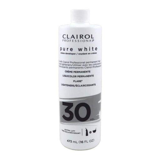 Clairol Professional Pure White 30 Volume Creme Developer, 16  Oz.