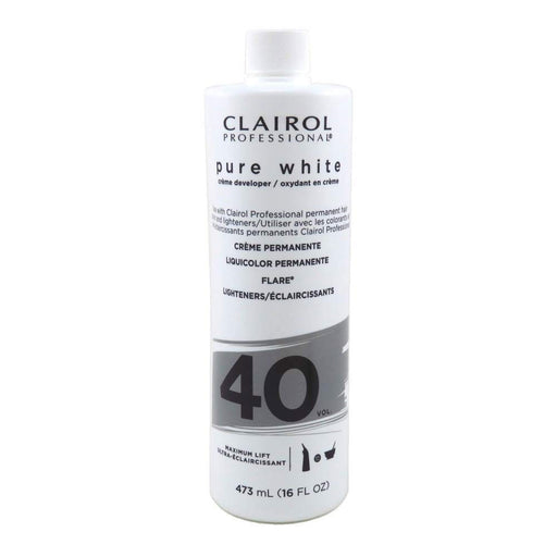 Clairol Professional Pure White 40 Volume Creme Developer, 16  Oz.