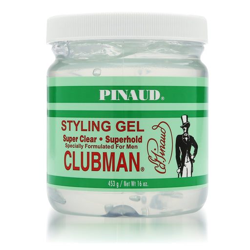 Clubman Pinaud Super Clear Styling Gel Super Hold, 16 oz.