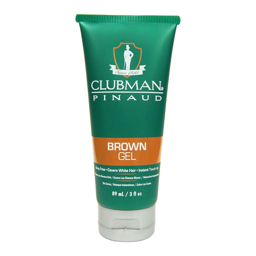 Clubman Temporary Gel, 3 oz, Brown