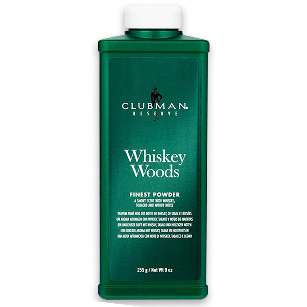 Clubman Reserve Whiskey Woods,Corn Powder, 9 Oz.