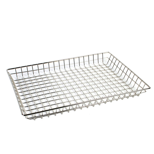 "16"" X 26"" X 2"" Chrome Plated Doughnut Basket, total 12 Counts"