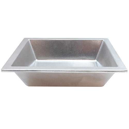 "Tablecraft Aurora 3.5 Qt. Large Aluminum Pan with Lip, 10""L x 12""W x 3""H"