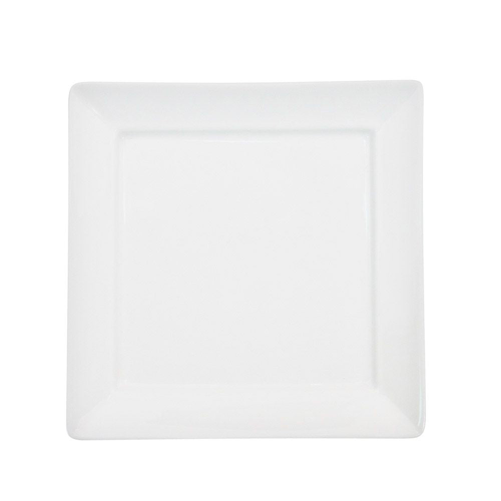 "Paris Square, Square Plate 5""W X 5""L X 1/2""H, Porcelain, Bone White"