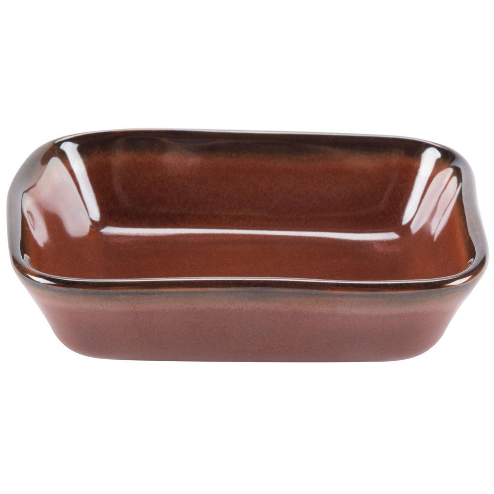 Artisan 5.5 x 4.1 x 1.5 Inch 8 oz. Side Dish Red Rock/Case of 24