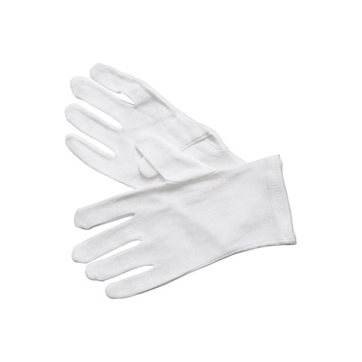 Service Gloves, White Cotton, MED