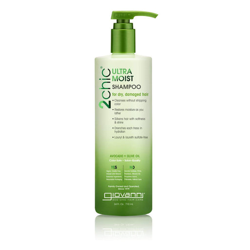 Giovanni Cosmetics Ultra Moist Shampoo With Avocado And Olive Oil 24 Ounce