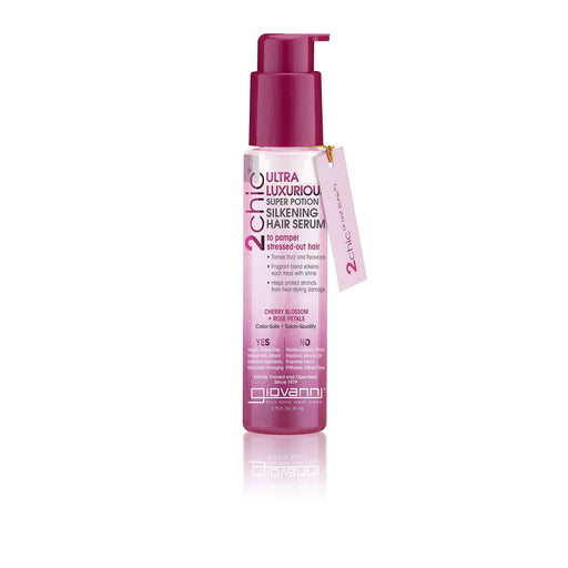 Giovanni 2Chic Ultra Luxurious Super Potion Silkening Hair Serum Cherry Blossom & Rose Petals 2.75 Fl. Oz.