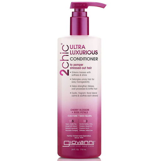 Giovanni Hair Care Products 2Chic Shampoo Cherry Blossom And Rose Petals 24 Fl Oz