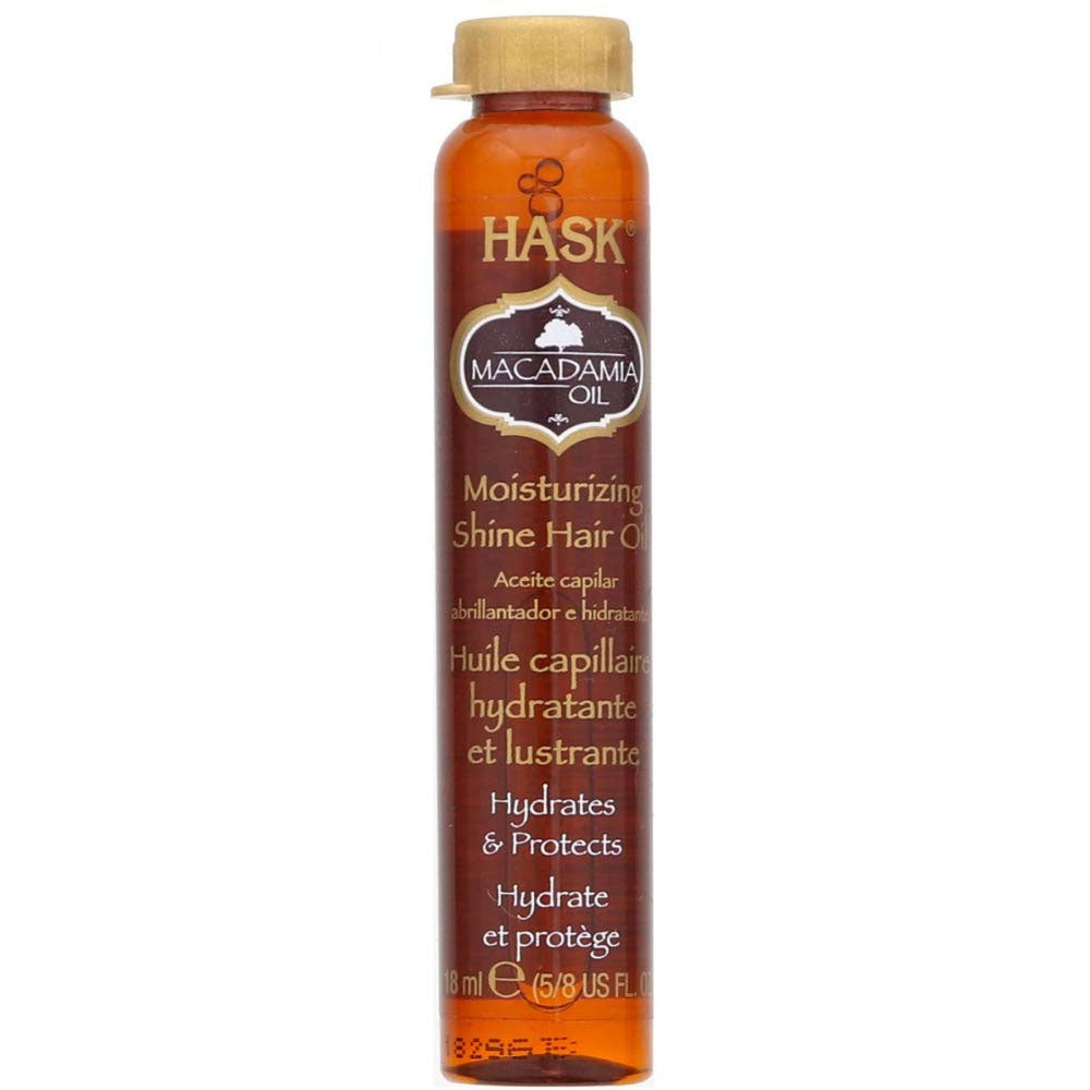 Hask Macadamia Oil Hair Treatment, Revitalizing Shine 0.6 Oz