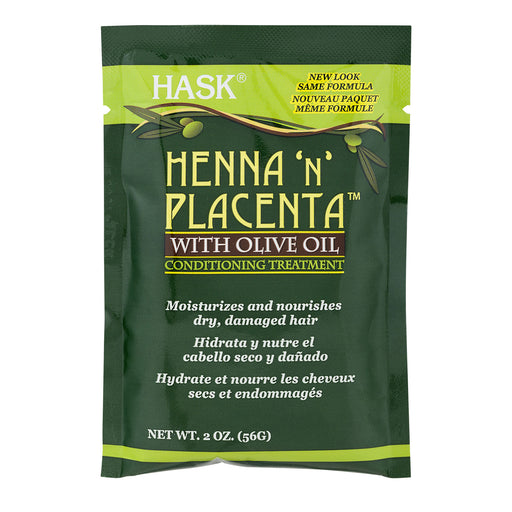 Hask Henna 'n' Placenta Olive Oil Conditioning Treatment