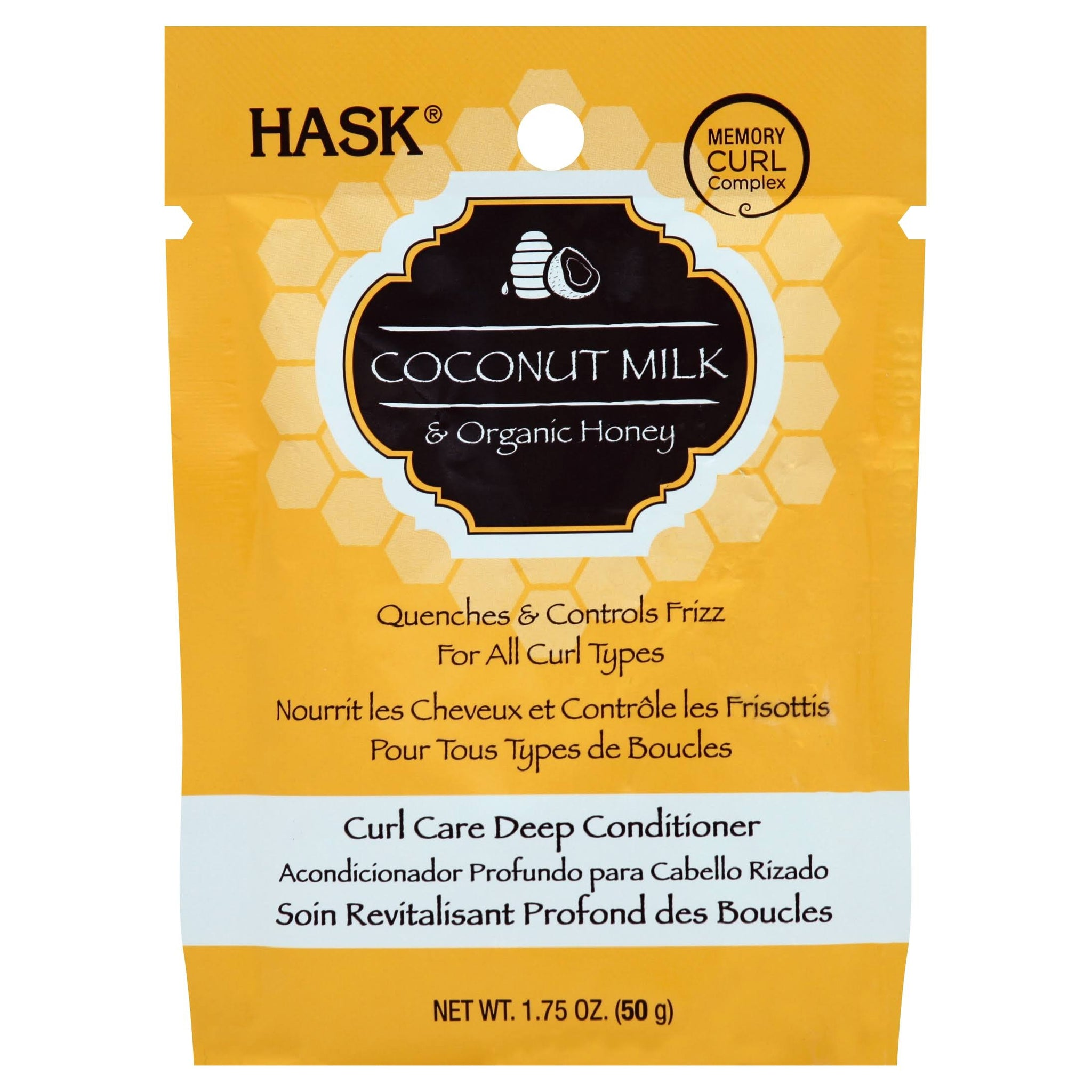 Hask Deep Conditioner, Curl Care, Coconut Milk & Organic Honey