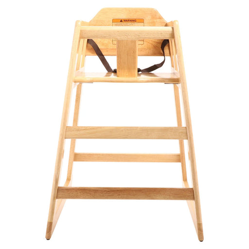 "20""L x 20""W, 29""H High Chair, Natural Wood, Knock Down-Assembly Required"