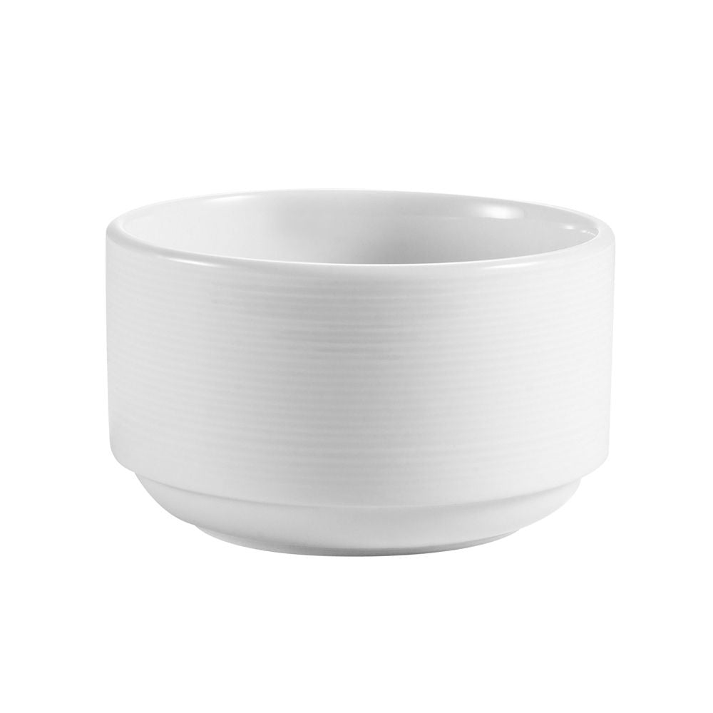 "Harmony, Stacking Bouillon 12 Oz. 4""Dia. X 2-3/8""H, Porcelain, Super White"