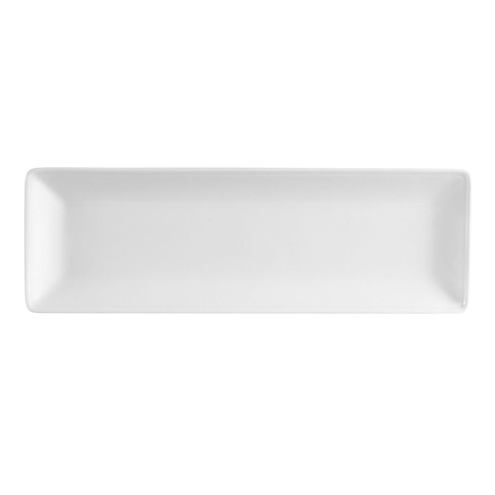 "Long Island, Rectangle Platter 12""W X 3-5/8""L X 3/4""H, Porcelain, White"