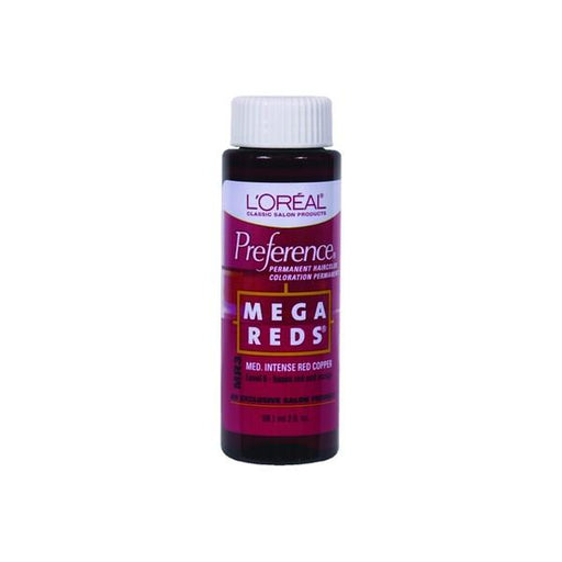 L'Oreal Preference Permanent Haircolor, Mega Reds MR3 Medium Intense Red Copper, 2 Oz.