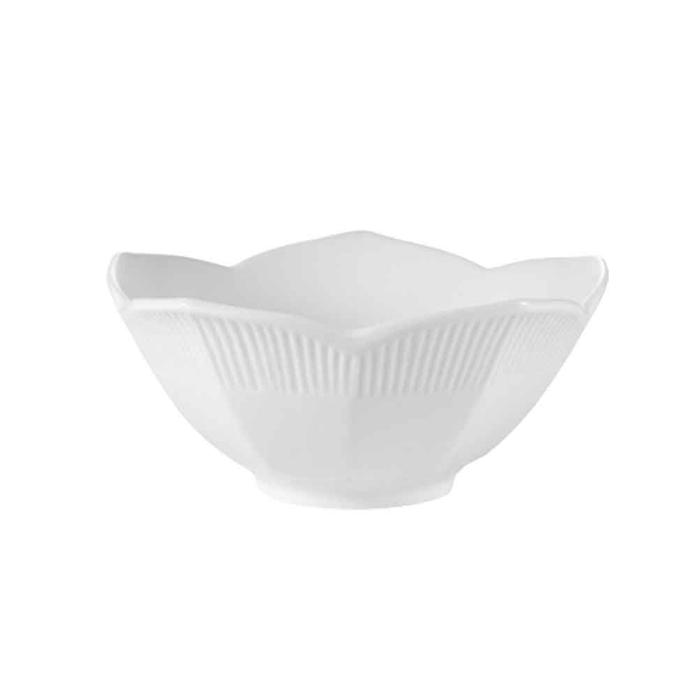 "RCN Specialty Item, Lotus Bowl 5 Oz. 4-1/2""Dia. X 2""H, Porcelain, White"