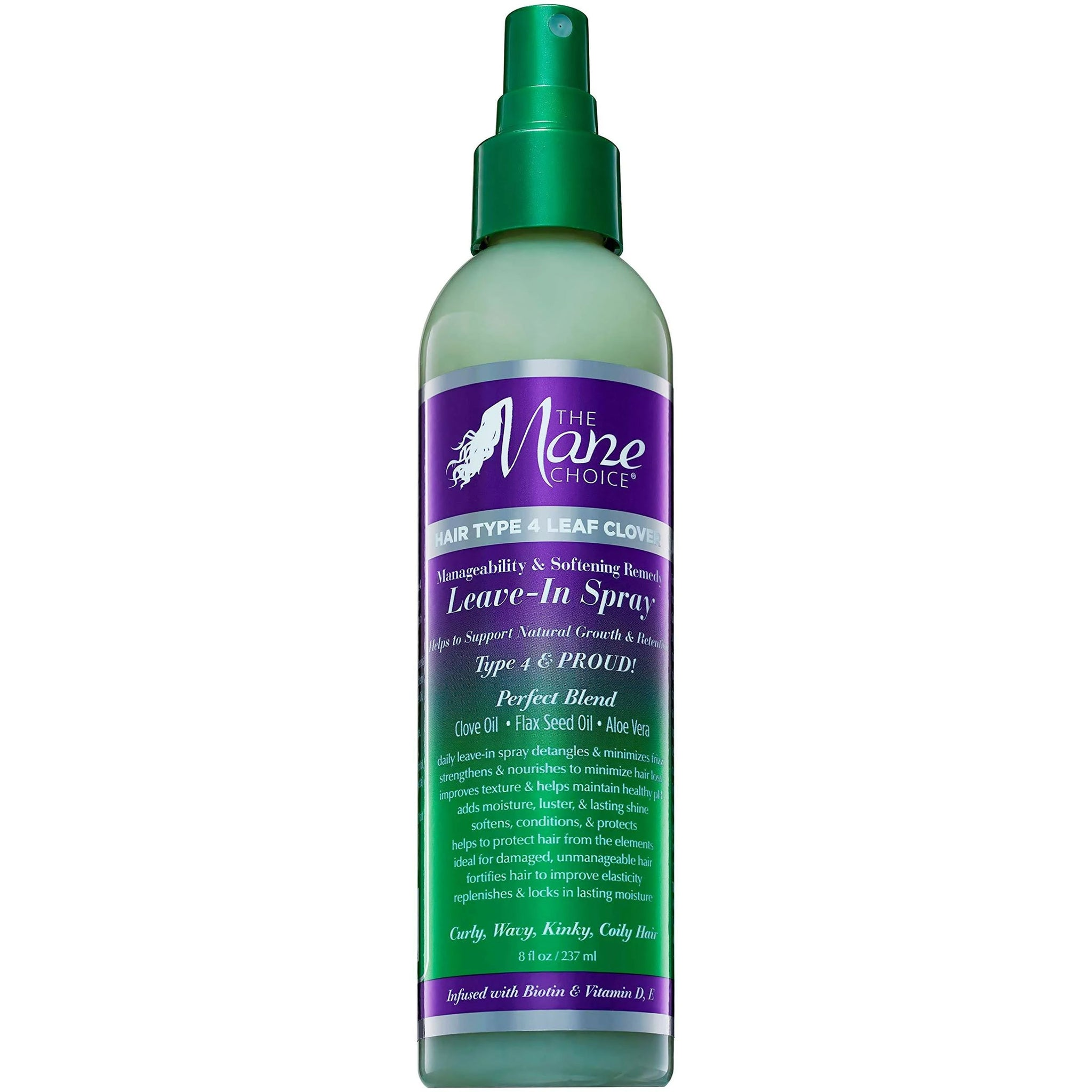 Mane Choice Hair Type 4 Leaf Clover Leave In Spray 00584 8oz