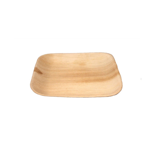 "6"" Sq. Palm Leaf Square Flat Plate"