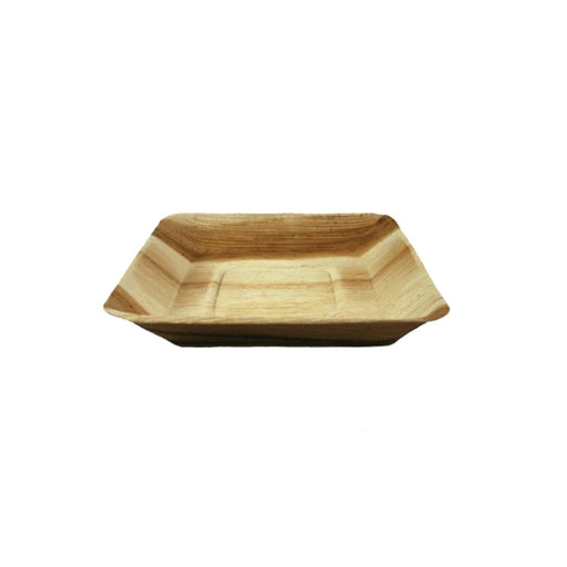 "7"" Sq. Palm Leaf Square Rimmed Plate"