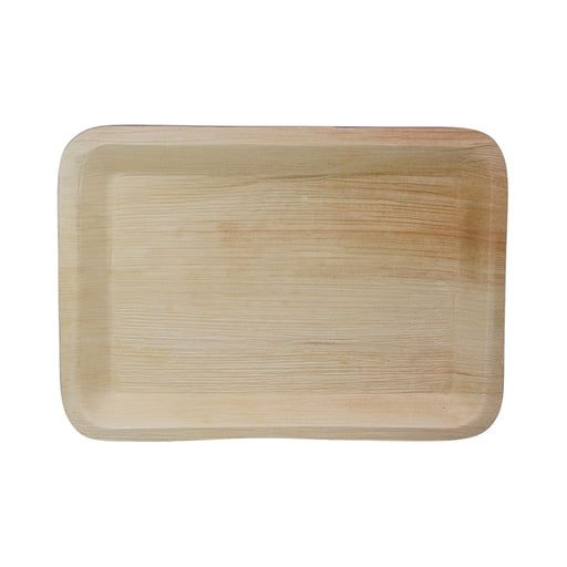 "14""L x 10""W Palm Leaf Rectangle Tray"