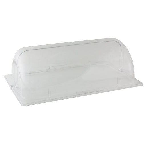 Full Size Roll Top Chafer Cover, Opens On Sides, Pc, Clear