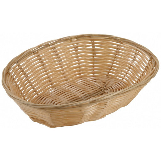 "Poly Woven Baskets, Oval, 9 1/2"" x 6 1/2"" x 2 3/4"", Natural"