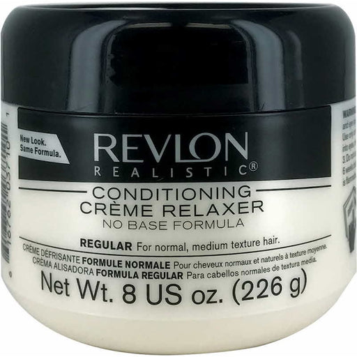 Revlon Realistic Conditioning Cream Relaxer No Base Regular 8 Oz.