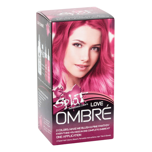 Splat Rebellious Colors Ombre, 30 Wash Original Kit SemiPermanent Hair Dye, Ombre Love, 2 Colors, Make Me Blush  Pink Fantasy