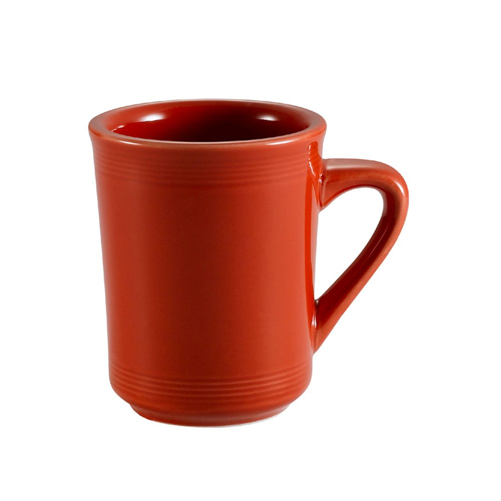 "Color Tango, Mug 8 Oz. 3-1/4""Dia. X 4""H, Porcelain, Red"