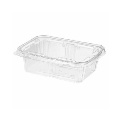 "6 1/4""L x 4 1/16""W x 1 7/8""H 24 Oz. Safe T Fresh Tamper Evident Plastic Hinged Container"