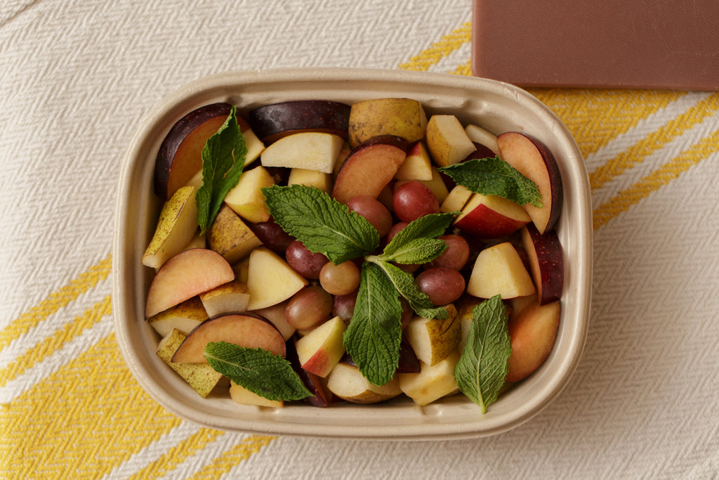 Seasonal Fruit Salad & Honey