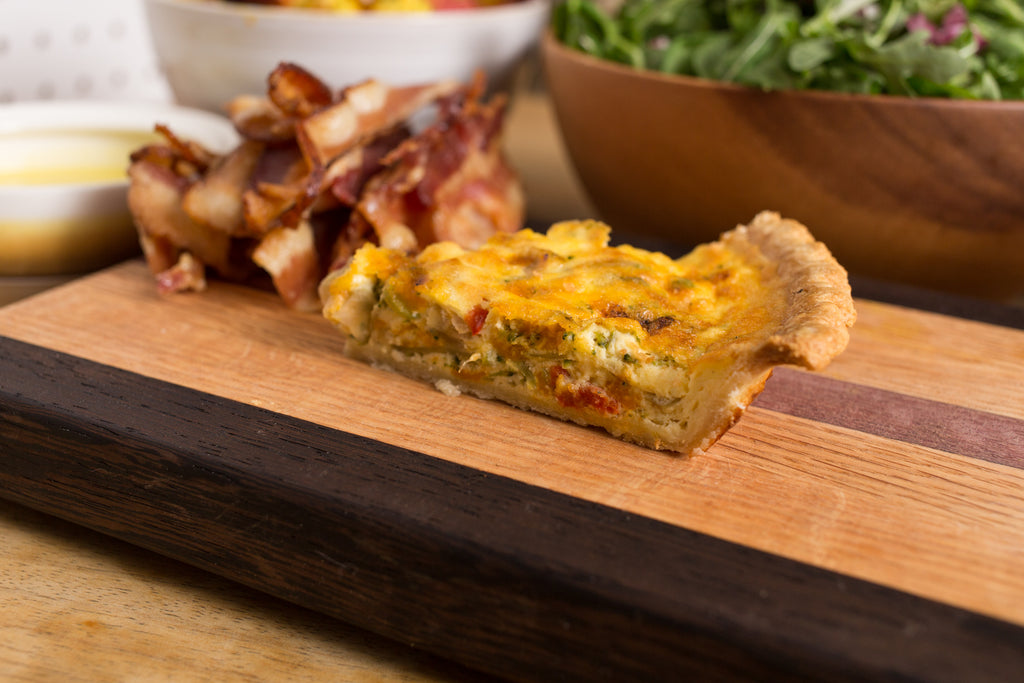 Roasted Pepper & Cheddar Quiche