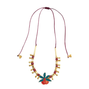 ORCHID NECKLACE-Pajarolimon