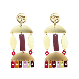 BURUNDI EARRINGS-Pajarolimon