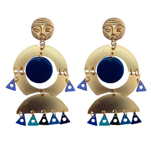 CAMERUN EARRINGS-Pajarolimon