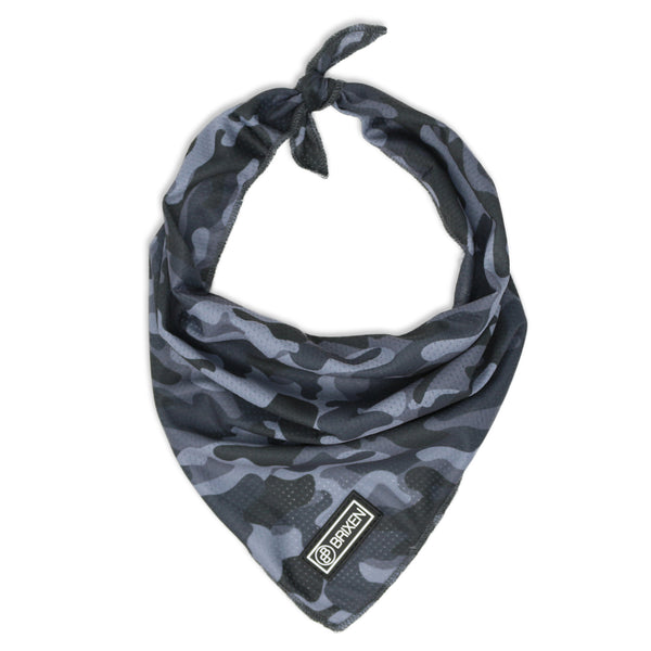 the gray camo dog bandana - BRIXEN