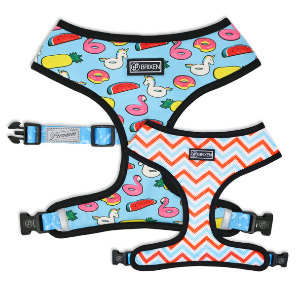 The Pool Party Reversible No Pull Dog Harness - Brixen