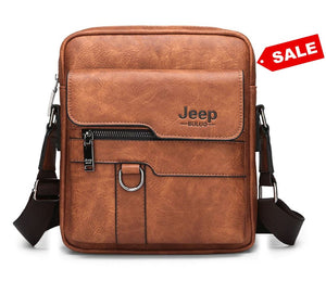 JEEP Crossbody Business/Casual Leather Bag