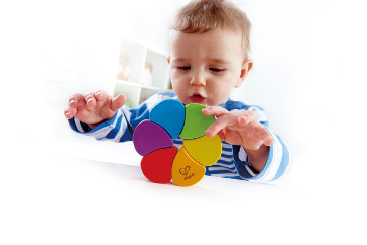 hape rainbow rattle The Toy Wagon