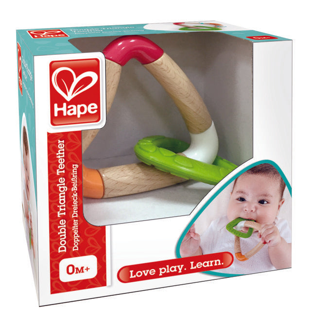 hape-double-triangle-teether-The Toy Wagon