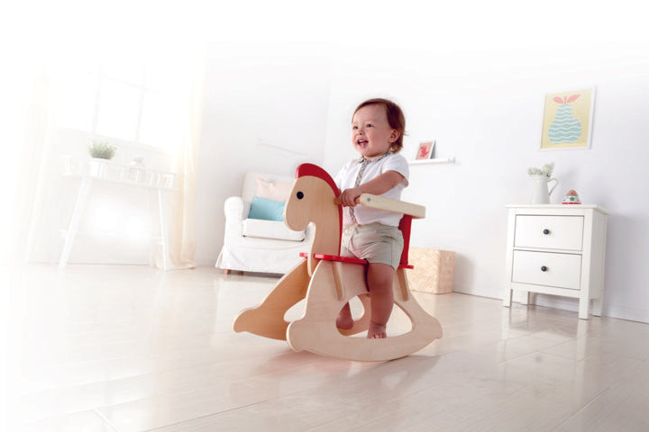 Hape Grow-with-me Rocking Horse perfect for baby as they grow The Toy Wagon