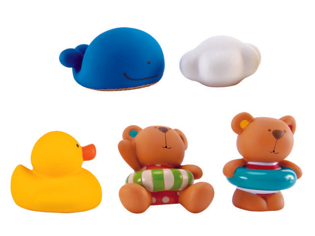 Hape Teddy and Friends Bath Squirts make bath time more fine for babies The Toy Wagon