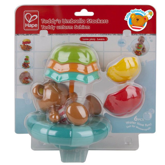 Hape Teddys Umbrella Stackers makes bath time fun for babies The Toy Wagon
