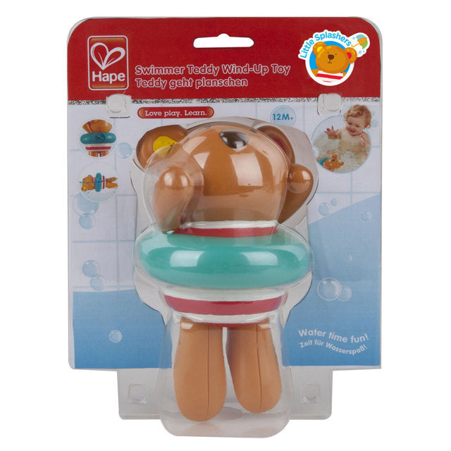 Hape Swimmer Teddy Wind-Up Toy makes bath time fun for babies The Toy Wagon