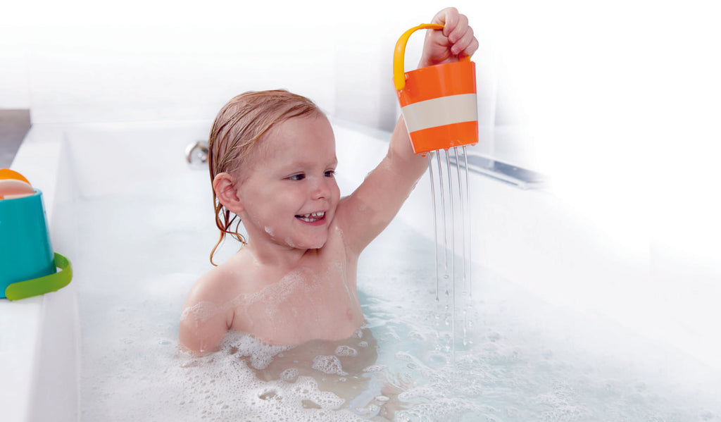 Hape Happy Buckets Set makes bath time fun for babies The Toy Wagon