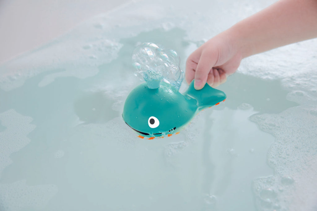 Hape Bubble Blowing Whale makes bath time fun for babies The Toy Wagon