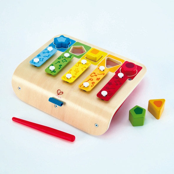 Hape Shape Sorter Xylophone, a first musical instruments for babies, perfect for making music The Toy Wagon