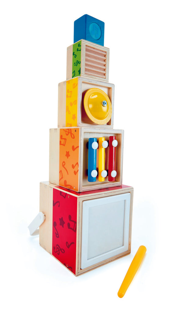 Hape Stacking Music set, a first musical instruments for babies, perfect for making music The Toy Wagon