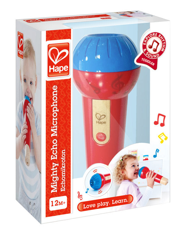 Hape Mighty Echo Microphone, a first musical instruments for babies, perfect for making music The Toy Wagon